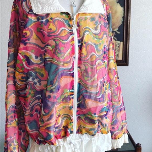 Vintage Jackets & Blazers - Adorable 1980s mesh windbreaker